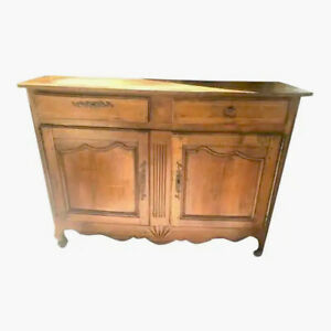 Antique French Country Fruitwood Buffet Sideboard