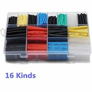 580 Pcs 21 Heat Shrink Tube 6 Colors 11 Sizes Tubing Set Combo Assorted Sleeving