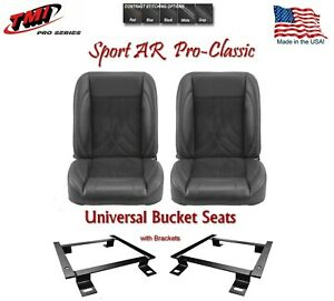 Sport Ar Pro Classic Complete Universal Bucket Seat Set With Brackets