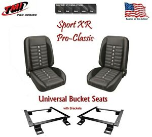 Sport Xr Pro Classic Complete Universal Bucket Seat Set With Brackets
