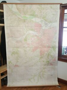 Large Roll Up Map Of Kansas City Missouri 1956 Approx Date 4 6 X 7 6