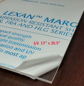 Lexan Margard polycarbonate Sheet Clear 1 4 13 x 20 5 In