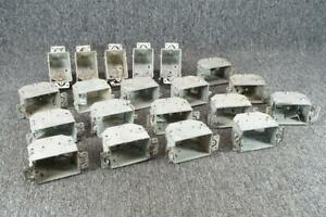 Lot Of 20 Metal Electrical Wall Outlet Mounting Boxes Appleton Racon Etc