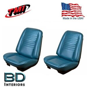 1967 Chevy Chevelle Malibu Front Rear Seat Upholstery Blue Made In Usa By Tmi