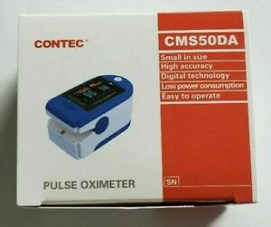 Fast Same Day Shipping Pulse Fingertip Oximeter Oxygen Monitor Blue Fhfy Nib