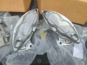 2 Front 4 Piston Brake Calipers Pair Fx50 G37 G37x Q50 09 370z Plain No Finish