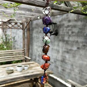 7 Colors Natural Crystal Lucky Quartz Car Hanging Decoration Home Wall Decor