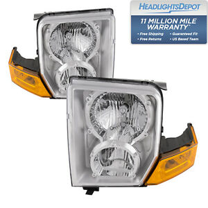 Headlights Set Right Left Pair Halogen Fits 2006 2010 Jeep Commander
