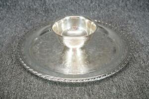 Wm A Rogers Silver Plate Chip And Dip Tray 12 5