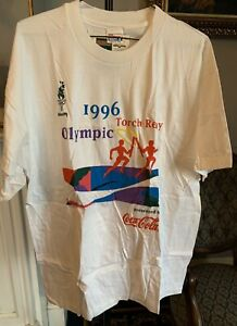1996 Olympics Torch Relay Coca Cola Tshirt, XXL, New With Tags.