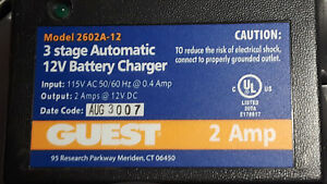 Guest Model 2602a 12 3 Stage Automatic Battery Charger 12 Volt