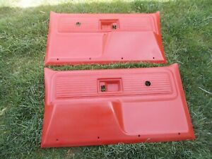 1977 Chevy Gmc Truck Door Panel Base 363257 Lh 363258 Rh Red In Color Pair