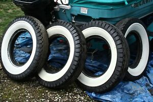Vintage Denman 7 50 X 17 White Wall Tires Set Of 4 For 400 New