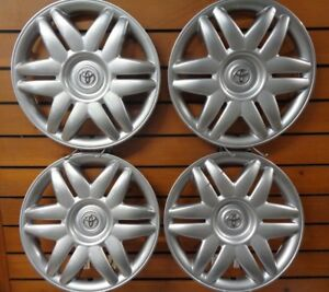 1 Set Of New 2000 2001 Toyota Camry 15 Hubcaps Wheel Covers 61104 Free Shipping
