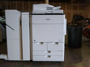 Canon Imagerunner Advance C7570i Color Print copy scan W finisher 121k Meter