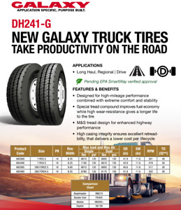11r22 5 New Galaxy Dh241 g Truck Drive Tires 4 Pack 11225 683369 36