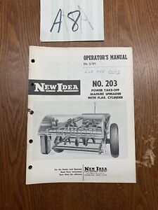 New Idea Operators Manual For No 203 Power Take off Manure Spreader s 191