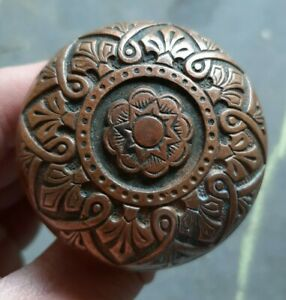 Beautiful Antique Brass Bronze Door Knob Victorian Eastlake Russell Erwin K10400