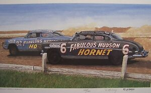 Hudson Hornet Art 1950 1951 1952 1953 Twin H Power Doc Early Nascar Herb Thomas