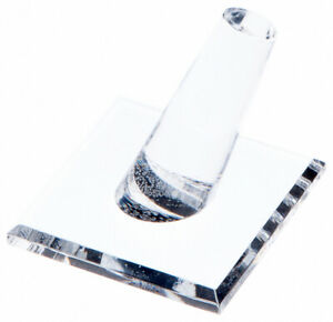 Plymor Acrylic Ring Finger Display Single On Square Base 2 W X 2 D X 1 75 H