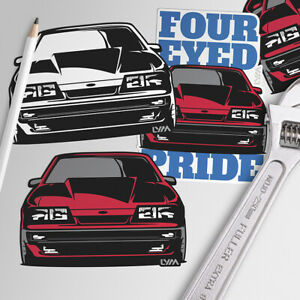 Four Eye Fox Body Ford Mustang Decal Four Eyed Pride