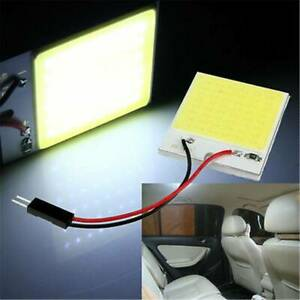10x 48smd Cob White Panel Led T10 Car Interior Panel Light 12v Dome Lamp Bulb 4w