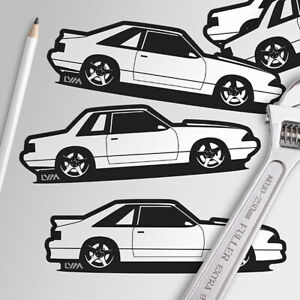 Fox Body Ford Mustang Notch Hatch Or Gt Decal You Choose