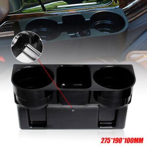 Universal Car 2 Dual Cup Holder Drink Beverage Seat Seam Wedge Auto Truck Mount