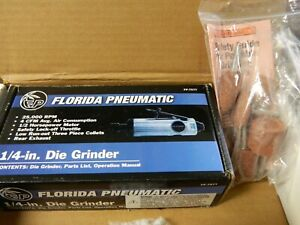 Florida Pneumatic 1 4 Collet Straight Handle Straight Air Die Grinder Fp 757tk