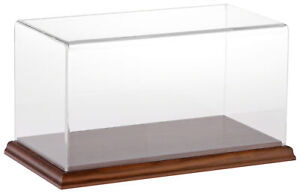 Plymor Clear Acrylic Display Case With Hardwood Base 10 W X 5 D X 5 H