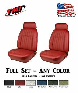 1969 Camaro Convertible Front Rear Deluxe Seat Upholstery Any Color