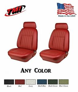 1969 Camaro Coupe Front Bucket Deluxe Seat Upholstery Any Color