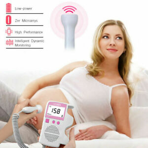 Fetal Doppler Meter Baby Heart Beat Rate Monitor Lcd Probe Pregnancy Fetus Women