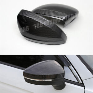 Carbon Fibre Look Side Rear View Mirror Cover For Volkswagen Vw Tiguan 2016 2020