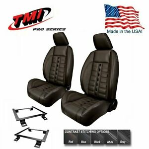 Tmi Pro Series Sport Xr Lowback Bucket Seats Brackets For 1965 1969 Barracuda
