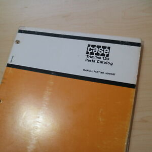 Case Davis Trimline 120 Trencher Parts Manual Book Catalog Spare List Trim Line