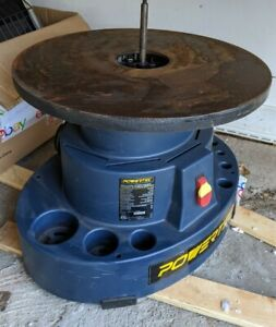 Powertect Os1000 Oscillating Spindle Sander W 18 Dia Cast Iron Table