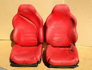 1994 1996 Corvette Sport Seats Torch Red Complete C4