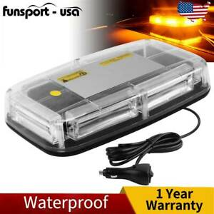 Amber Roof Top Led Emergency Strobe Light Cob Warning Flash Lamp Bar For Car