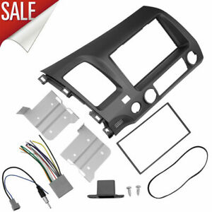 For Honda Civic 08 11 Taupe Radio Stereo Dash Kit W Wiring Harness Double 2 Din