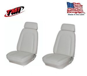 Seat Upholstery Bright White 1969 Camaro Coupe Bucket Fold Rear Bench Foam