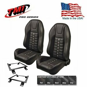 Tmi Pro Series Sport Xr Highback Bucket Seats For 1966 72 Chevelle W oe Bench