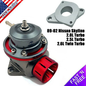 Fv Blow Off Valve 40mm Bov With Adapter Flange R32 R33 R34 Skyline Gt r Gts t
