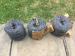 Barbed Wire Fence 3 Brand New Roll
