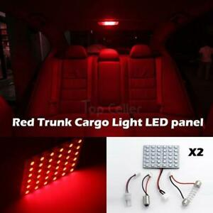 2x Red 36 Smd Panel Led Bulbs 12v For Car Interior Dome Map Reading Door Light