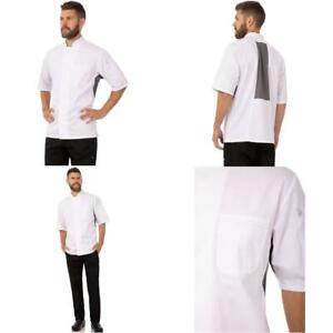 Chef Works Men s Valais Chef Coat White W gray Contrast X large