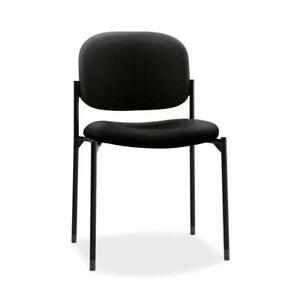 Hon Scatter Guest Chair Leather Stacking Chair Office Furniture Black