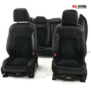 11 18 Dodge Charger Rt Front Rear Seat Set Leather Suede Seats