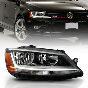For 11 18 Vw Jetta Sedan Halogen Model Led Tube Headlight Rh Passenger Side Lamp