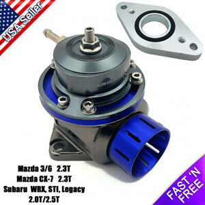 Fv Blow Off Valve 40mm Bov With Adapter Flange For Subaru Wrx Mazda 3 6 Cx 7